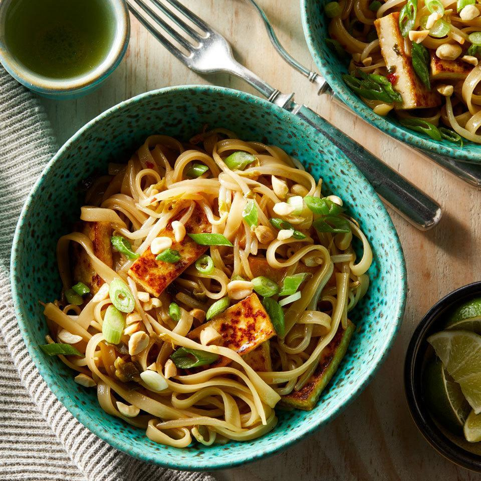 <p>You won't miss the scrambled eggs and fish sauce in this vegan version of the Thai favorite because the flavorful sauce hits just the right balance of sweet, spicy and umami.</p>