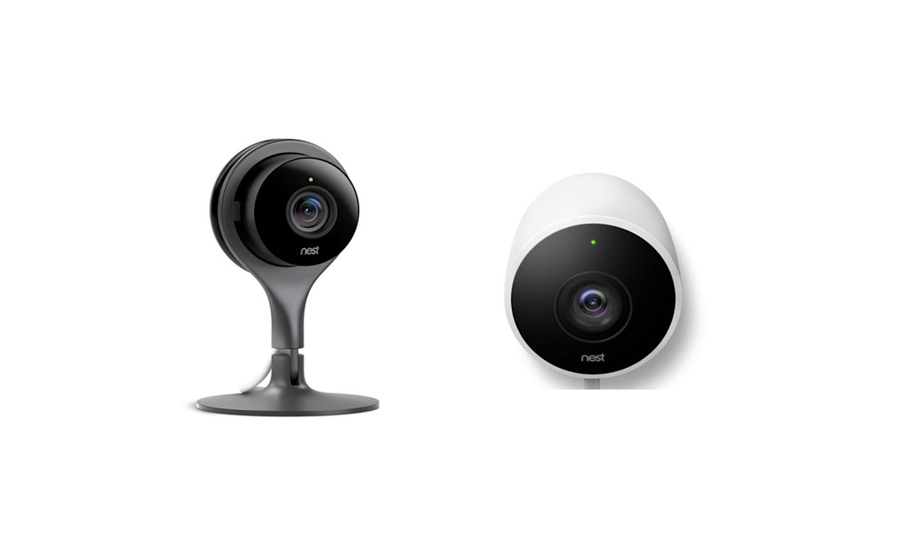 "<p>Nest's indoor and outdoor security camera, $348. Available on <a rel=""nofollow"" href=""https://store.nest.com/product/camera?selectedVariantId=NC1102ES"">Nest.com</a> </p>"