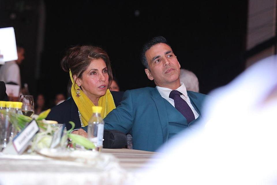 <p>Superstar Akshay Kumar is her son-in-law. He is married to her daughter Twinkle Khanna. They share a great rapport and Akshay has stated that his mother-in-law is his best friend </p>