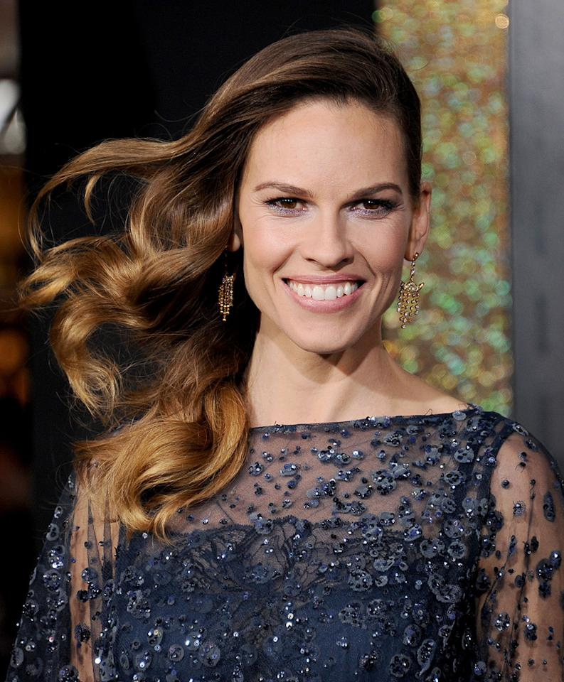 "<a href=""http://movies.yahoo.com/movie/contributor/1800020739"">Hilary Swank</a> at the Los Angeles premiere of <a href=""http://movies.yahoo.com/movie/1810219047/info"">New Year's Eve</a> on December 5, 2011."