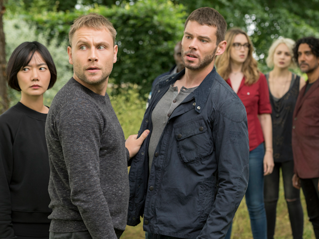 "Stars of the show ""Sense8,"" which Netflix canceled after two seasons. Murray Close/Netflix"