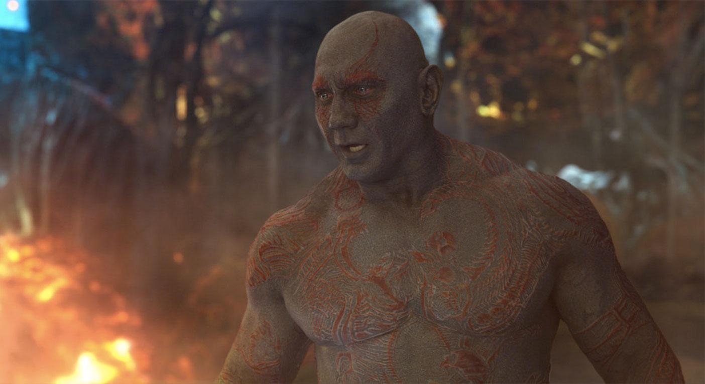 Dave Bautista as Drax The Destroyer in GOTG Vol. 2 (Disney)