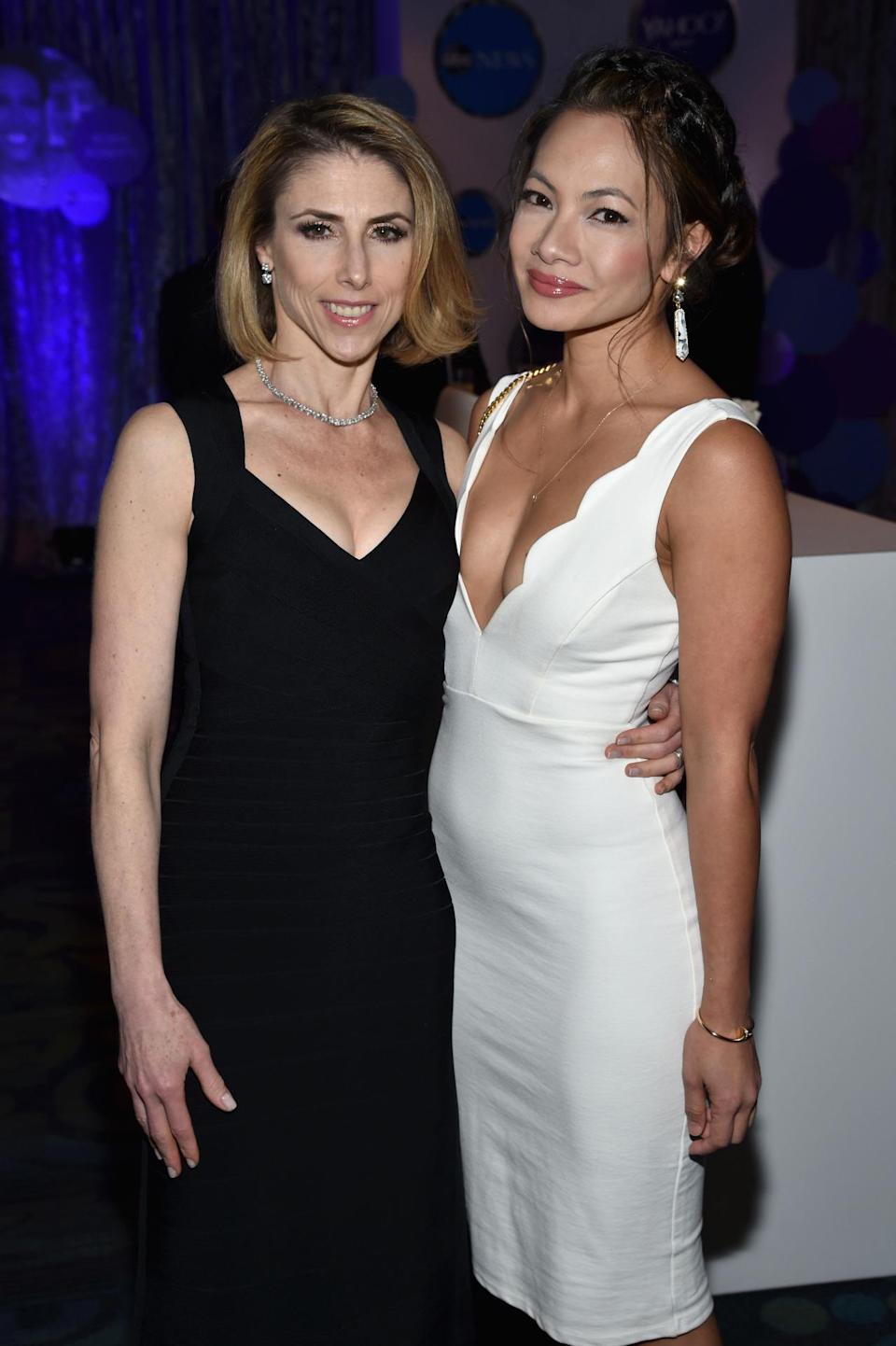 <p>Megan Liberman, editor in chief of Yahoo News and Finance, and Anne Espiritu, head of global PR at Yahoo, attend the Yahoo News/ABC News White House Correspondents' Dinner pre-party at the Washington Hilton, April 30. <i>(Photo: Dimitrios Kambouris/Getty Images for Yahoo)</i></p>