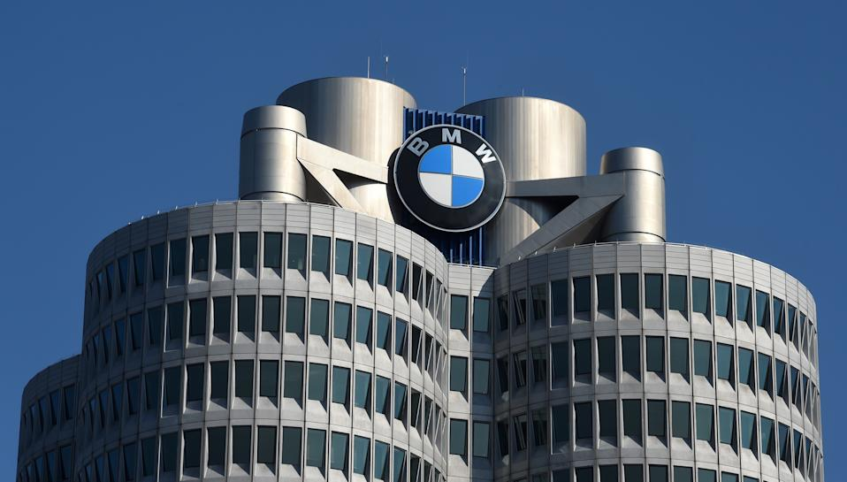 A picture taken on March 18, 2020 shows a view of the headquarters of German carmaker BMW in Munich, southern Germany, before the group presents its financial results for 2019. - BMW said it would close European and South African factories accounting for half its output for a month, matching other car giants stricken by coronavirus containment measures. It also warned that profits this year would be significantly lower as a result of the crisis. (Photo by Christof STACHE / AFP) (Photo by CHRISTOF STACHE/AFP via Getty Images)