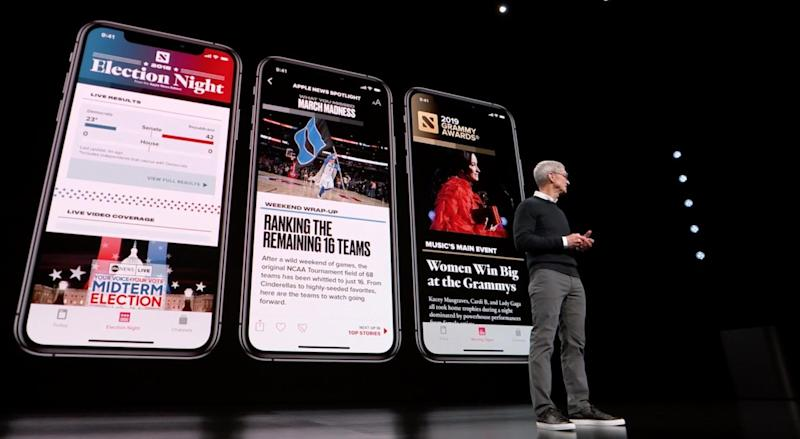Apple streaming event: New News+ service asks people to pay for magazines, premium articles and websites