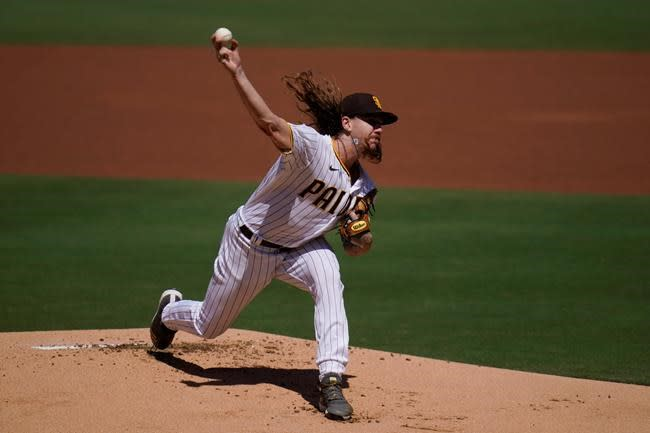 Clevinger lasts just one inning in start for Padres
