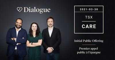 Dialogue's IPO - From right to left: Cherif Habib (CEO), Anna Chif (Chief Product Officer), Alexis Smirnov (Chief Technology Officer) (CNW Group/Dialogue Health Technologies Inc.)