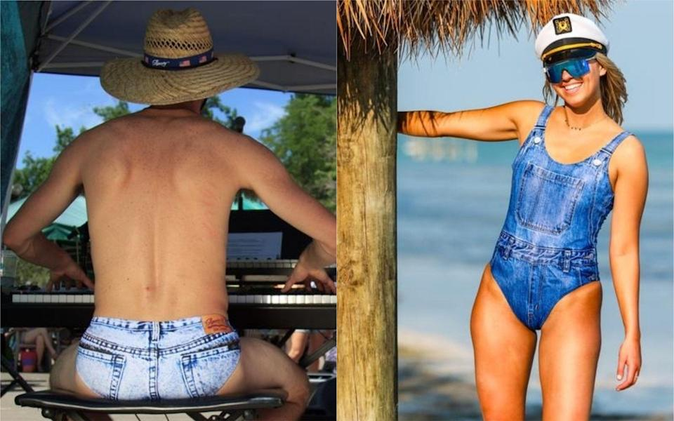 A denim-inspired swimwear line has landed in time for summer [Photo: Shinesty]