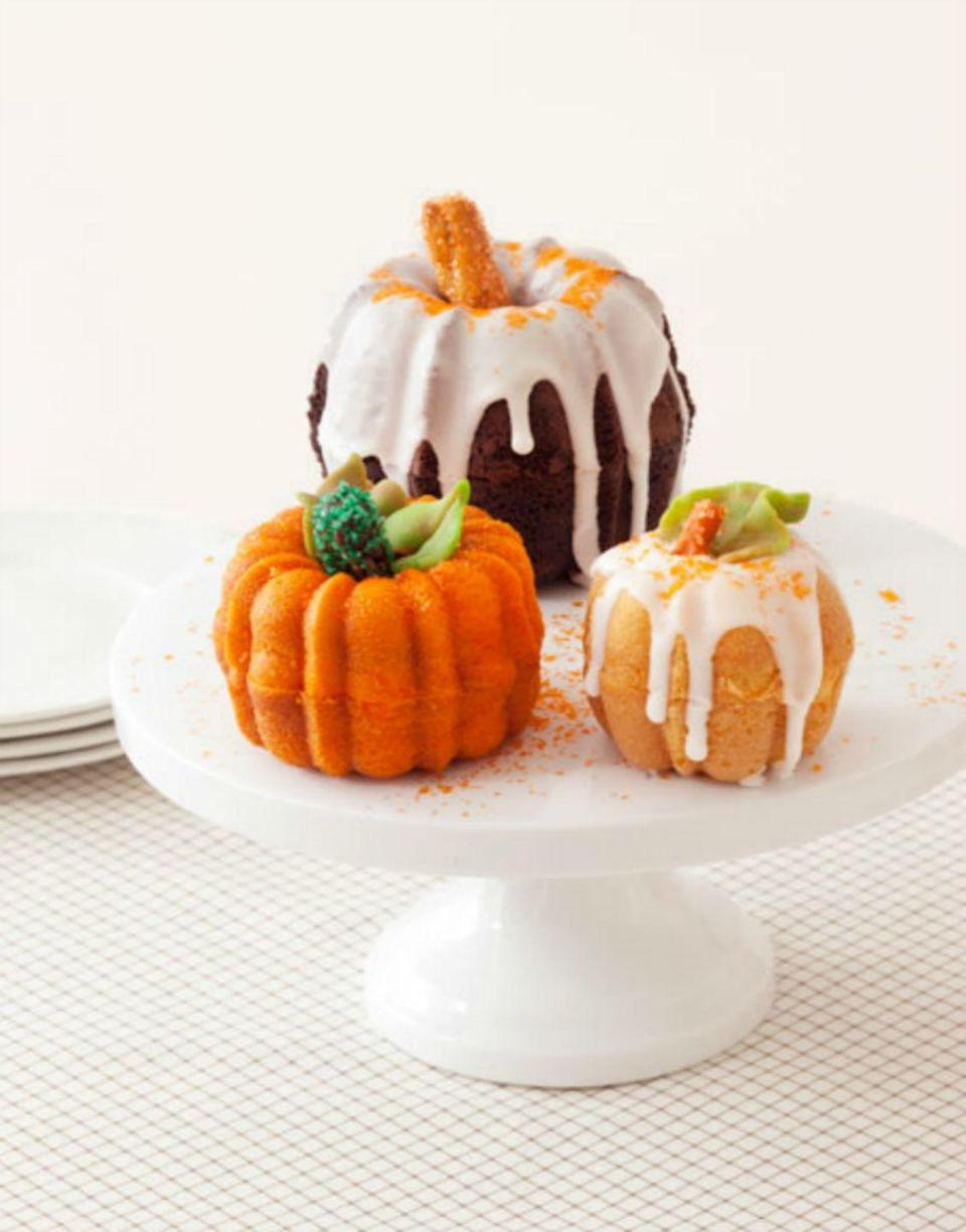 "<p>These super-cute patch cakes are insanely moist with just the right balance of sweetness. </p><p><strong><em><a href=""https://www.womansday.com/food-recipes/food-drinks/recipes/a39666/pumpkin-patch-cakes-recipe-ghk1013/"" rel=""nofollow noopener"" target=""_blank"" data-ylk=""slk:Get the Pumpkin Patch Cakes recipe."" class=""link rapid-noclick-resp"">Get the Pumpkin Patch Cakes recipe. </a></em></strong></p>"