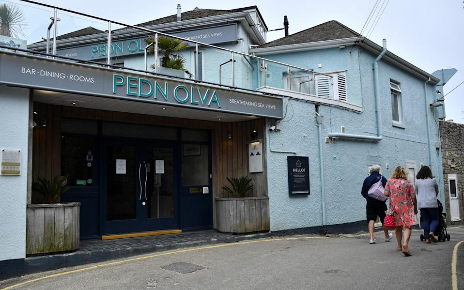 The Pedn Olva Hotel is seen, after it was closed due to a guest contracting coronavirus disease (COVID-19), during the G7 leaders summit, in St Ives - REUTERS/Dylan Martinez