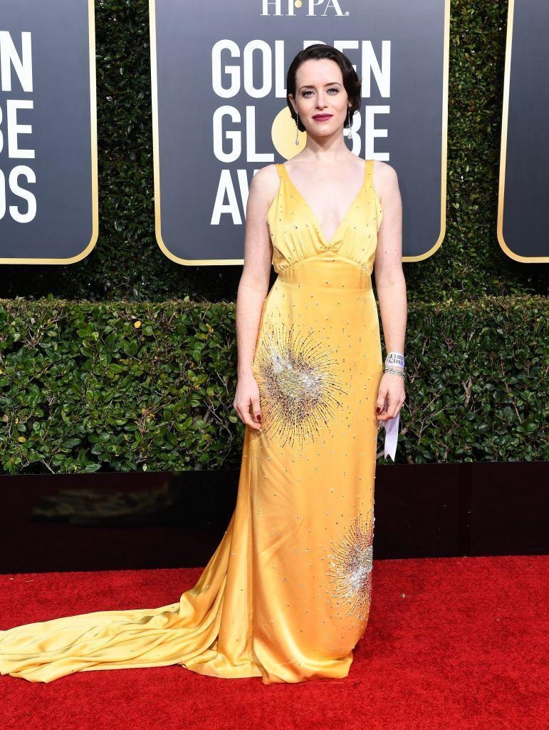 <p>Claire Foy attends the 76th Annual Golden Globe Awards at the Beverly Hilton Hotel in Beverly Hills, Calif., on Jan. 6, 2019. (Photo: Getty Images) </p>