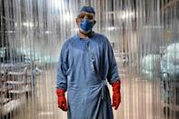 Rodolfo Diaz is one of Mexico's many hospital cleaners risking their lives to battle the coronavirus, often with little recognition