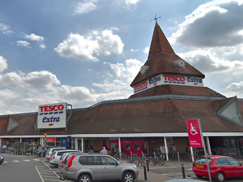 Tesco Extra in Swindon, where a 'small number' of staff have tested positive for coronavirus: Google Maps