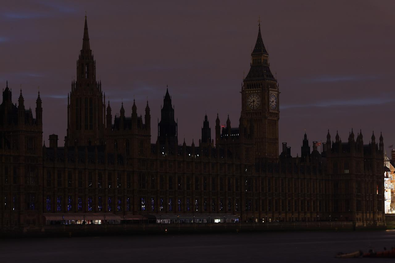 LONDON, ENGLAND - MARCH 31:  The lights are turned off on The Houses of Parliament in central London, to mark 'Earth Hour' on March 31, 2012 in London, England. According to organisers the biggest ever Earth Hour has participants including individuals, companies and landmarks in 147 countries and over 5,000 cities, agreeing to switch off their lights for one hour at 8:30pm. The Brandenburg Gate in Berlin, the Eiffel Tower in Paris, Big Ben Clock Tower in London, the Christ the Redeemer statue in Rio de Janeiro and the Empire State Building in New York are among the monuments whose operators have agreed to participate in the demonstration.  (Photo by Dan Kitwood/Getty Images)