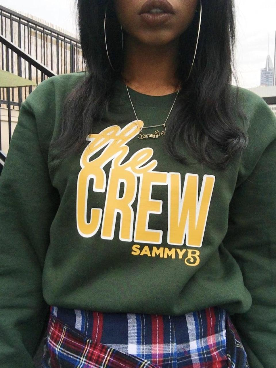<p>This <span>Sammy B. Unisex Crew Varsity Pullover</span> ($55) is so effortlessly cool.</p>