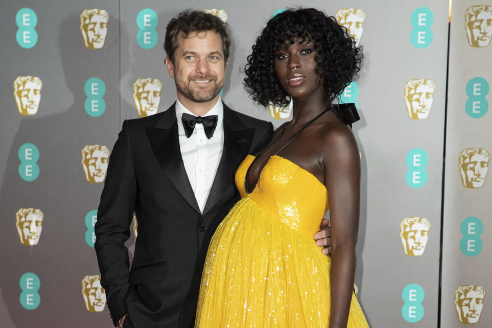 Jodie Turner-Smith and Joshua Jackson pose for photographers upon arrival at the Bafta Film Awards, in central London, Sunday, Feb. 2 2020. (Photo by Vianney Le Caer/Invision/AP)