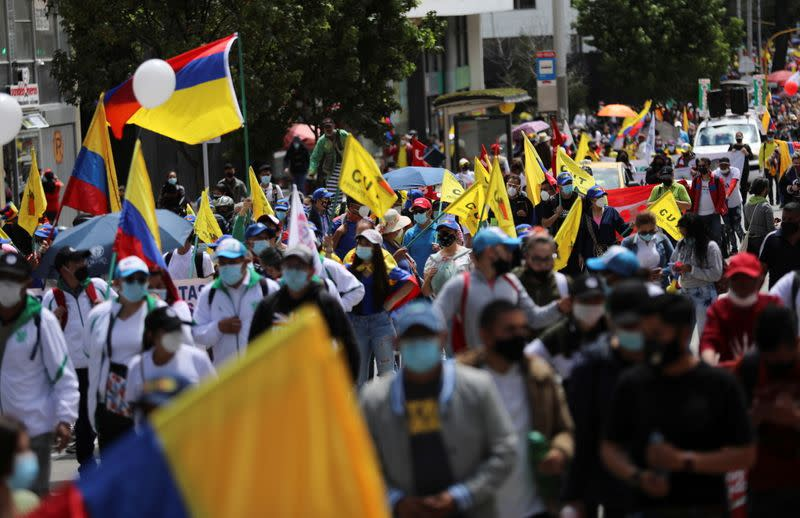 FILE PHOTO: Anti-government demonstrations continue, in Bogota