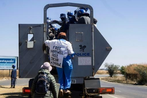 Dangarembga and a fellow protester, Julie Barnes, were arrested after staging a roadside demonstration