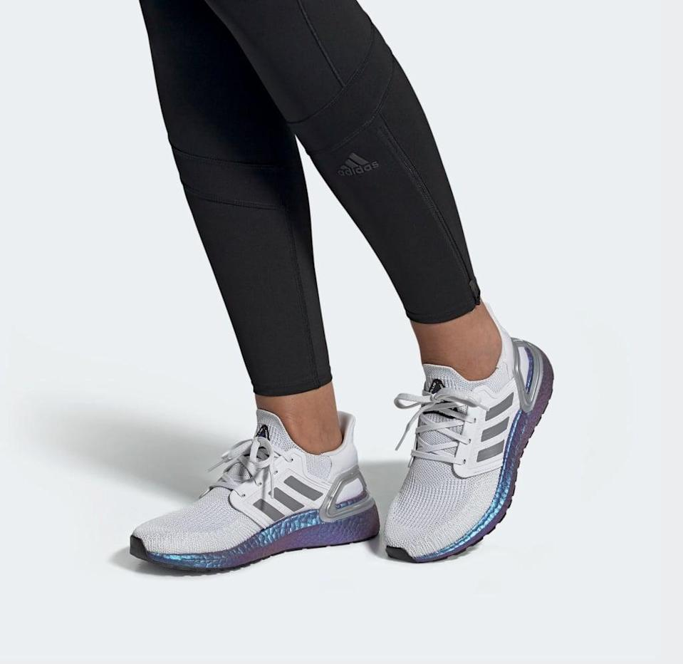 """<p>""""In the years I've been a fitness editor, I've gotten to try plenty of sneakers. And while I tend to stick to the tried-and-true running shoes I got fitted for at a running speciality shop for my half marathon to power me on the tread, I was pumped when Adidas sent me a pair of their <span>Adidas Ultraboost 21 Shoes</span> ($180). I had heard good things about the Ultraboosts, and always thought they looked chic and stylish on my friends who rocked older versions of the sneaker. It wasn't until I put them to the test that I really got the hype.</p> <p>Ultraboosts have plenty of cushion that make you feel like you're walking and running on clouds, but they're not too bulky that they'll interfere with the weightlifting portion of your class. The 25-to-30-minute portions on the treadmill during mixed-format classes (where I log around 2-to-3 miles) is the perfect distance for theses sneakers. Your feet still feel supported, yet comfortable."""" - CS</p> <p>Read the full <a href=""""https://www.popsugar.com/fitness/adidas-ultraboost-20-womens-shoe-review-47299397"""" class=""""link rapid-noclick-resp"""" rel=""""nofollow noopener"""" target=""""_blank"""" data-ylk=""""slk:Adidas Ultraboost 21 Shoes review"""">Adidas Ultraboost 21 Shoes review</a>.</p>"""