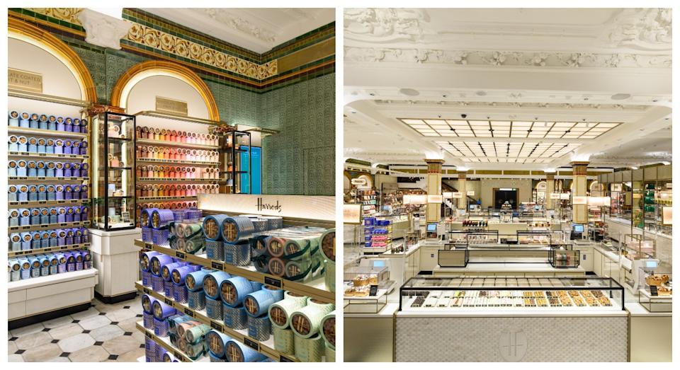 Much of Harrods' chocolate hall was preserved during restoration  (Harrods)