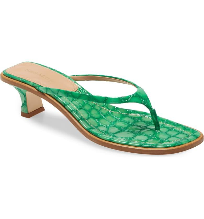 """<h2>Nordstrom</h2><br><strong>Deal</strong>: <strong>Up To 70% Off</strong><br>The multi-brand retailer's sale section is currently stocked with up to 60% off markdowns on an impressive selection of sandals from big-name labels like <a href=""""https://www.nordstrom.com/s/jimmy-choo-jin-square-toe-sandal-women/5433250"""" rel=""""nofollow noopener"""" target=""""_blank"""" data-ylk=""""slk:Jimmy Choo"""" class=""""link rapid-noclick-resp"""">Jimmy Choo</a> and <a href=""""https://www.nordstrom.com/s/manolo-blahnik-gable-buckle-slide-sandal-women/5440318"""" rel=""""nofollow noopener"""" target=""""_blank"""" data-ylk=""""slk:Monolo Blahnik"""" class=""""link rapid-noclick-resp"""">Monolo Blahnik</a>. Additionally, shoppers can also score an <a href=""""https://www.nordstrom.com/browse/sale/clearance/women/shoes"""" rel=""""nofollow noopener"""" target=""""_blank"""" data-ylk=""""slk:extra 25% off on select clearance styles"""" class=""""link rapid-noclick-resp"""">extra 25% off on select clearance styles</a> for a limited time. <br><br><em>Shop <strong><a href=""""https://www.nordstrom.com/browse/sale/women/shoes/sandals"""" rel=""""nofollow noopener"""" target=""""_blank"""" data-ylk=""""slk:Nordstrom"""" class=""""link rapid-noclick-resp"""">Nordstrom</a></strong></em><br><br><strong>Sies Marjan</strong> Alix Crocodile Embossed Sandal, $, available at <a href=""""https://go.skimresources.com/?id=30283X879131&url=https%3A%2F%2Fwww.nordstrom.com%2Fs%2Fsies-marjan-alix-crocodile-embossed-sandal-women%2F5522869"""" rel=""""nofollow noopener"""" target=""""_blank"""" data-ylk=""""slk:Nordstrom"""" class=""""link rapid-noclick-resp"""">Nordstrom</a>"""