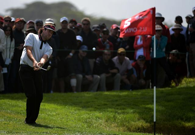 SAN FRANCISCO, CA - JUNE 14: Bubba Watson of the United States plays a shot on the second hole during the first round of the 112th U.S. Open at The Olympic Club on June 14, 2012 in San Francisco, California. (Photo by Harry How/Getty Images)
