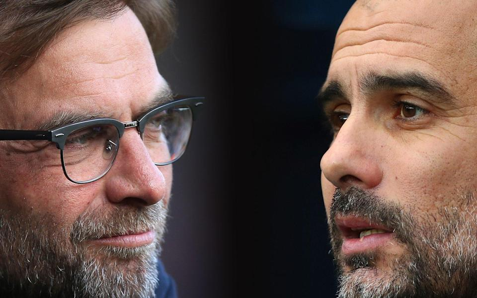 Jurgen Klopp and Pep Guardiola have engaged in a war of words this week - Getty Images Europe