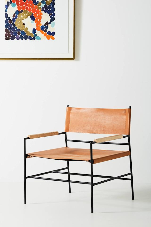 "<p><strong>Anthropologie</strong></p><p>anthropologie.com</p><p><strong>$599.95</strong></p><p><a href=""https://www.anthropologie.com/shop/jack-leather-chair"" target=""_blank"">BUY NOW</a></p><p>Do you need this fly-as-hell chair? Well, <em>need</em> is a strong word, but its midcentury-inspired look will instantly level up whatever room you put it in. It's normally $798, on sale for $600, but when you add it to your cart, it drops to $480. </p>"