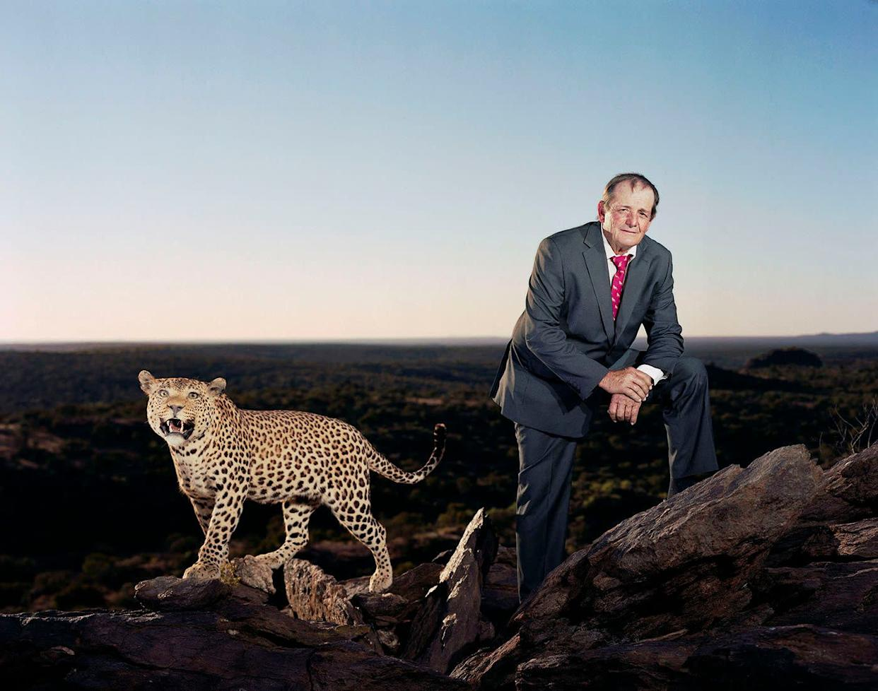 Walter Sibold and full-mounted leopard.