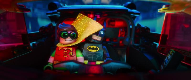 Batman (Will Arnett) and Robin (Michael Cera) in The Lego Batman Movie. (Warner Bros Pictures)