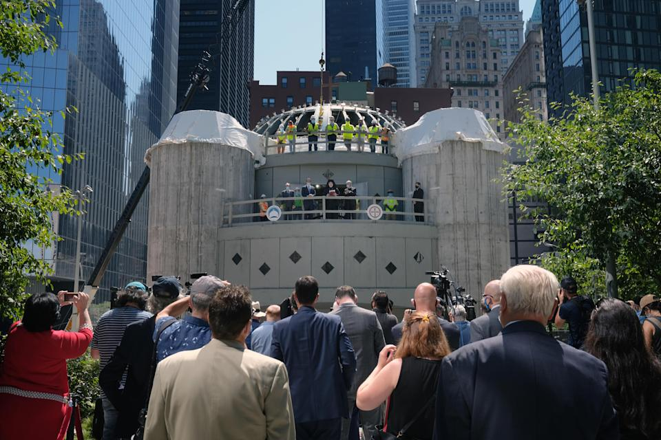On the eve of the 20th anniversary of 9/11, St. Nicholas Greek Orthodox Church will be reborn as a national shrine. / Credit: Getty Images