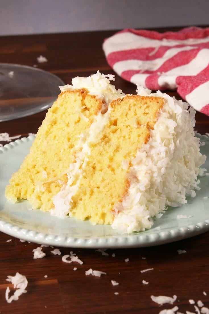 """<p>We're coco-nuts about this classic cake! 😛</p><p>Get the recipe from <a href=""""https://www.delish.com/cooking/recipe-ideas/recipes/a52097/coconut-layer-cake-recipe/"""" rel=""""nofollow noopener"""" target=""""_blank"""" data-ylk=""""slk:Delish"""" class=""""link rapid-noclick-resp"""">Delish</a>.</p>"""