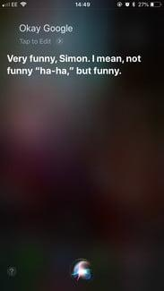 funny questions to ask siri ok google
