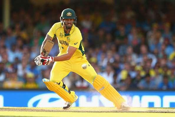 SYDNEY, AUSTRALIA - MARCH 26: Mitchell Johnson of Australia bats during the 2015 Cricket World Cup Semi Final match between Australia and India at Sydney Cricket Ground on March 26, 2015 in Sydney, Australia. (Photo by Cameron Spencer/Getty Images)