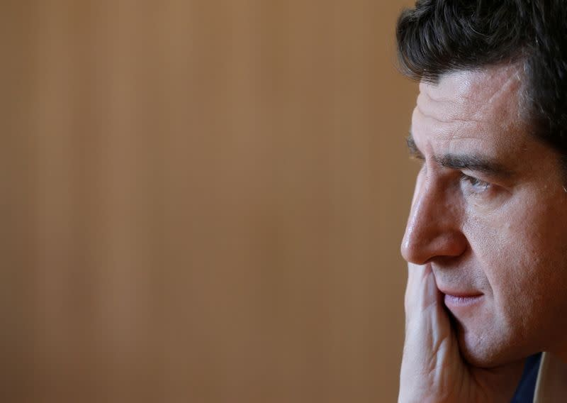 FILE PHOTO: French Businessman and Lazard France CEO Matthieu Pigasse poses during an interview with Reuters in Paris