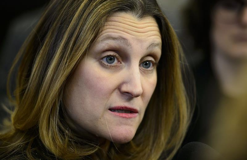 Freeland says tariffs raise 'serious questions' about NAFTA after meetings in DC