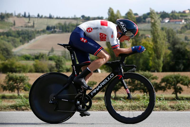 IMOLA ITALY SEPTEMBER 25 Geraint Thomas Wales of The United Kingdom during the 93rd UCI Road World Championships 2020 Men Elite Individual Time Trial a 317km race from Imola to Imola Autodromo Enzo e Dino Ferrari ITT ImolaEr2020 Imola2020 on September 25 2020 in Imola Italy Photo by Bas CzerwinskiGetty Images