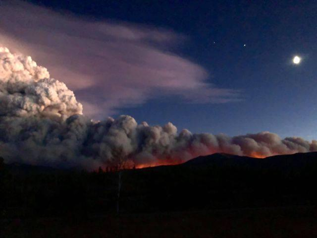 Scenes of the East Troublesome Fire.