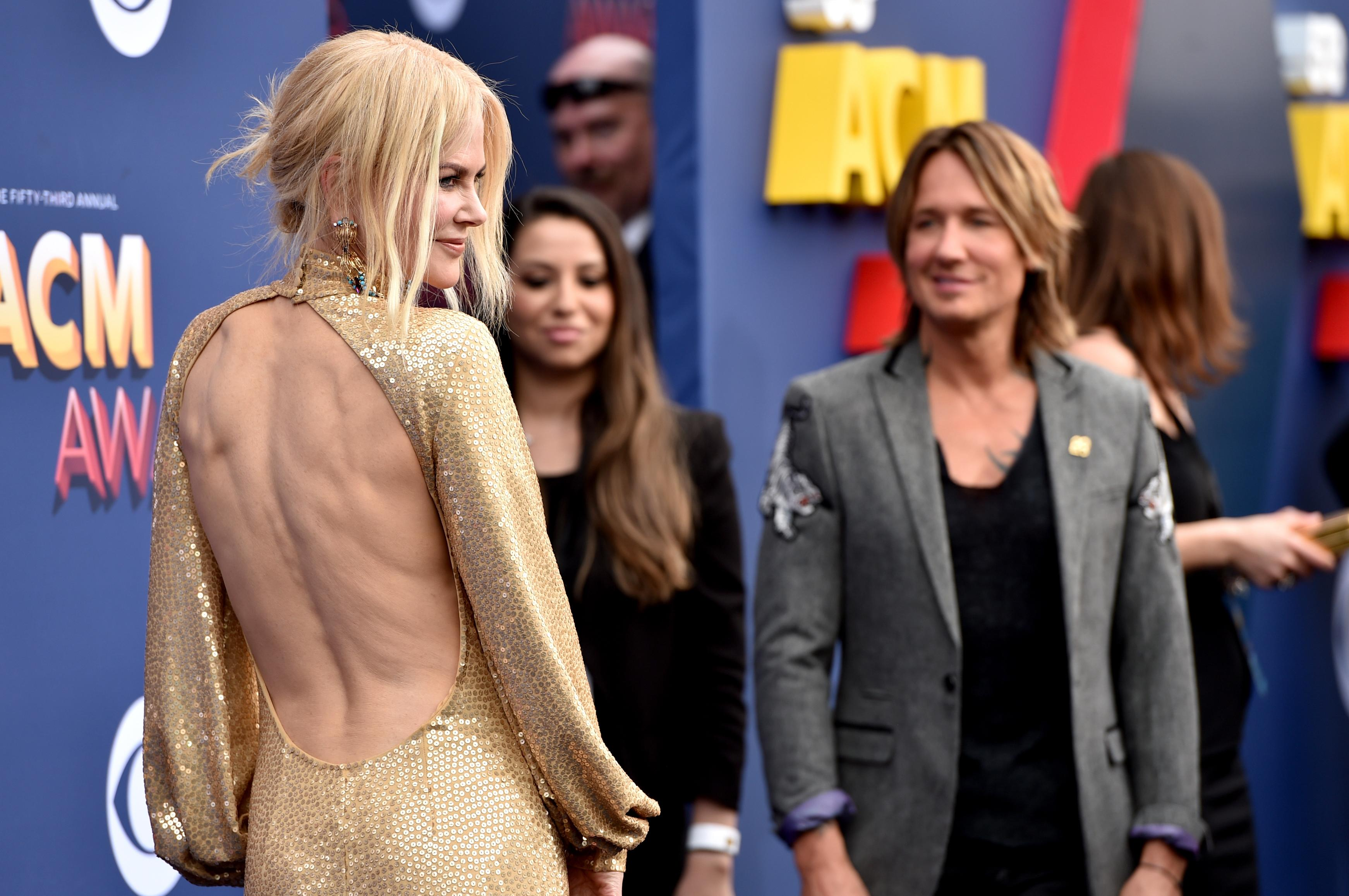 Nicole Kidman supports Keith Urban at ACM Awards