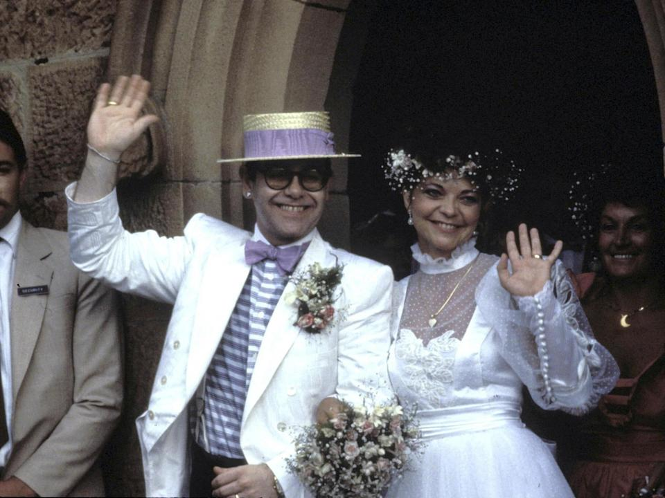 John and Blauel on their wedding day in 1984Getty Images