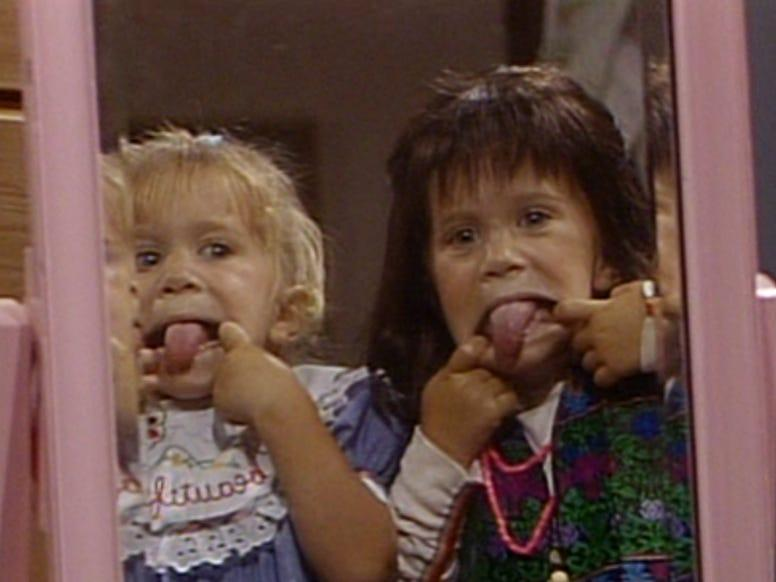 "Mary-Kate and Ashley Olsen alternated playing Michelle Tanner on ""Full House."""