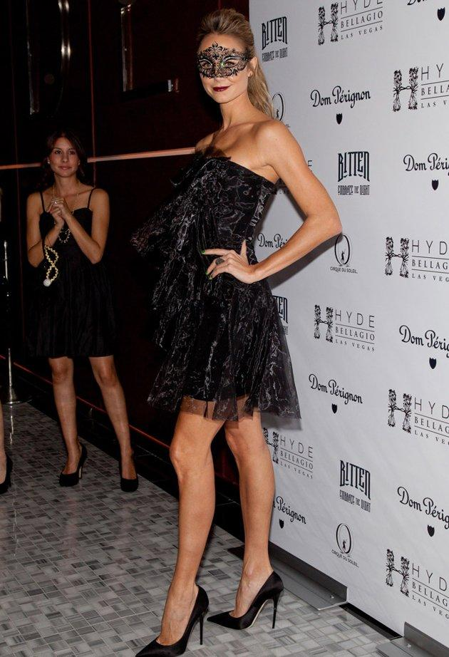 Stacy Keibler wasn't scary at all as she stepped out in a sexy black dress while hosting Dom Perignon's Halloween Masquerade at Hyde Bellagio in Las Vegas on Saturday. Keibler, 33, was notably without her boyfriend George Clooney for the occasion. However, she recently confessed to omg! that she made some purchases for her masquerade costume in Venice, Italy, hours from Clooney's vacation home on Lake Como. We're guessing he was a fan! (10/27/2012)
