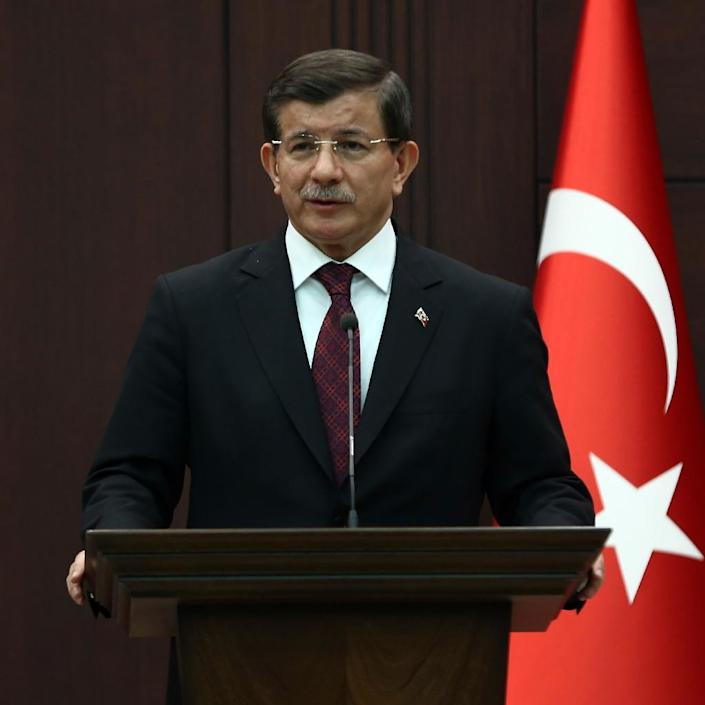 """Turkish Prime Minister Ahmet Davutoglu said a row over the deats of thousands of Armenians in 1915 was a reflection of the racism in Europe"""" (AFP Photo/Adem Altan)"""