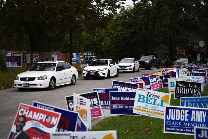 FILE PHOTO: Texans turn out in massive numbers for early voting in Houston