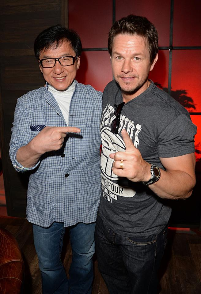 CULVER CITY, CA - JUNE 08:  Jackie Chan (L) and actor Mark Wahlberg attend Spike TV's Guys Choice 2013 at Sony Pictures Studios on June 8, 2013 in Culver City, California.  (Photo by Jason Merritt/Getty Images for Spike TV)