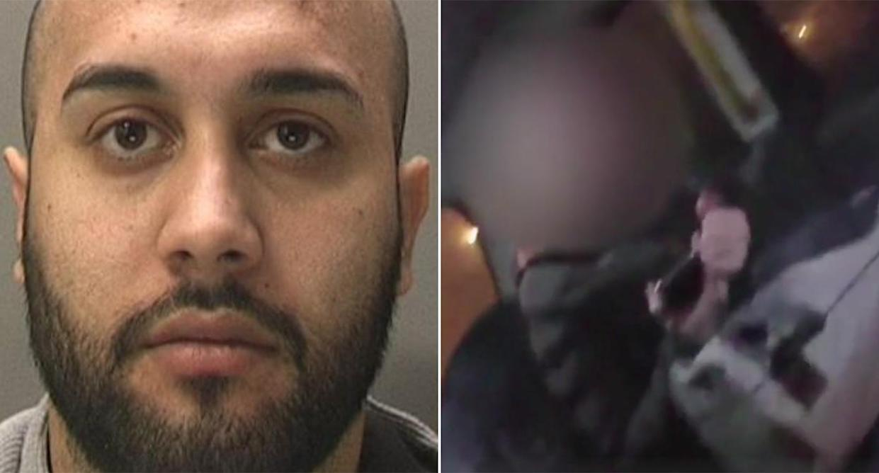 Robert Enescu, left, was convicted of sex trafficking after a pregnant woman was found by police in a taxi in Coventry (Pictures: West Midlands Police)