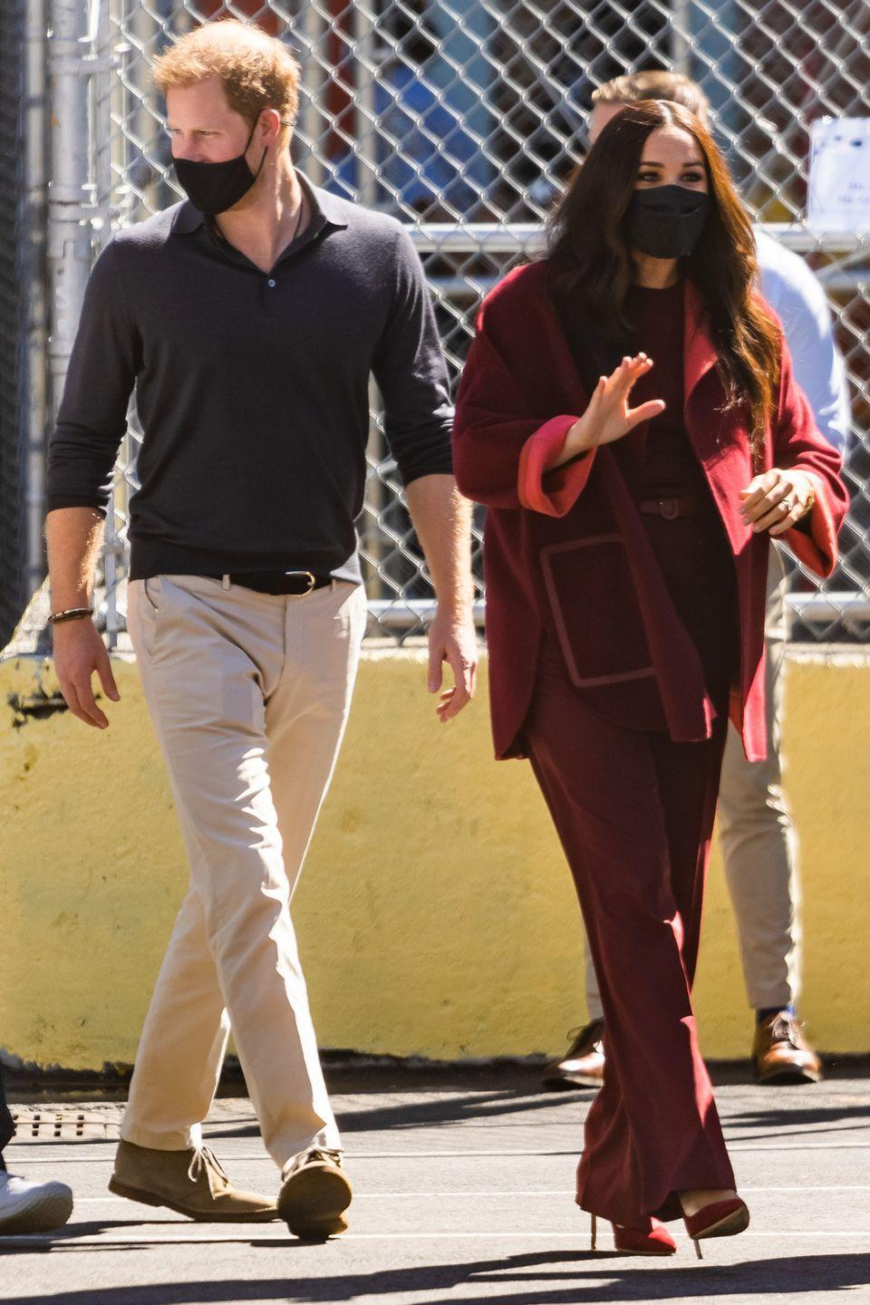 <p>The couple paid a visit to P.S. 123 Mahalia Jackson school in Harlem during their tour.</p>