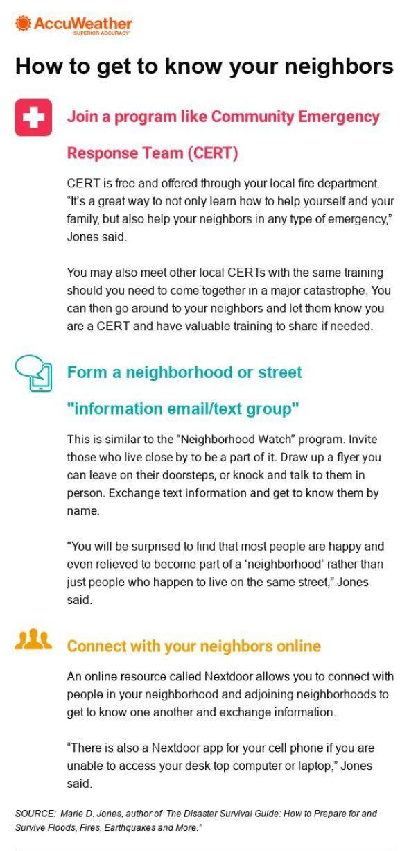 Infographic - How to get to know your neighbors