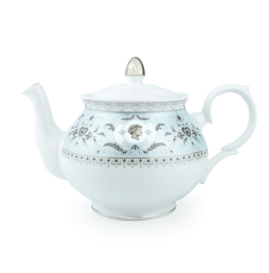 """<p>Invest in fine bone china tea accessories which feature a cameo portrait of Princess Diana and symbols of her most cherished memories from Kensington Palace.<br><em><a rel=""""nofollow noopener"""" href=""""http://www.historicroyalpalaces.com/teapots/princessdiana-finebonechina-commemorative-teapot-blue.html"""" target=""""_blank"""" data-ylk=""""slk:Historic Royal Palaces"""" class=""""link rapid-noclick-resp"""">Historic Royal Palaces</a>, £75</em> </p>"""