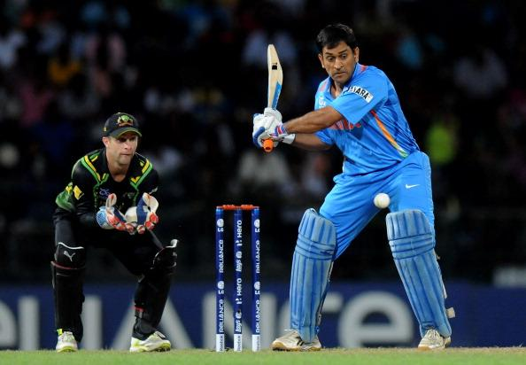 COLOMBO, SRI LANKA - SEPTEMBER 28:  M S Dhoni captain of India bats during the super eight match between Australia and India held at R. Premadasa Stadium on September 28, 2012 in Colombo, Sri Lanka.  (Photo by Pal Pillai/Getty Images)